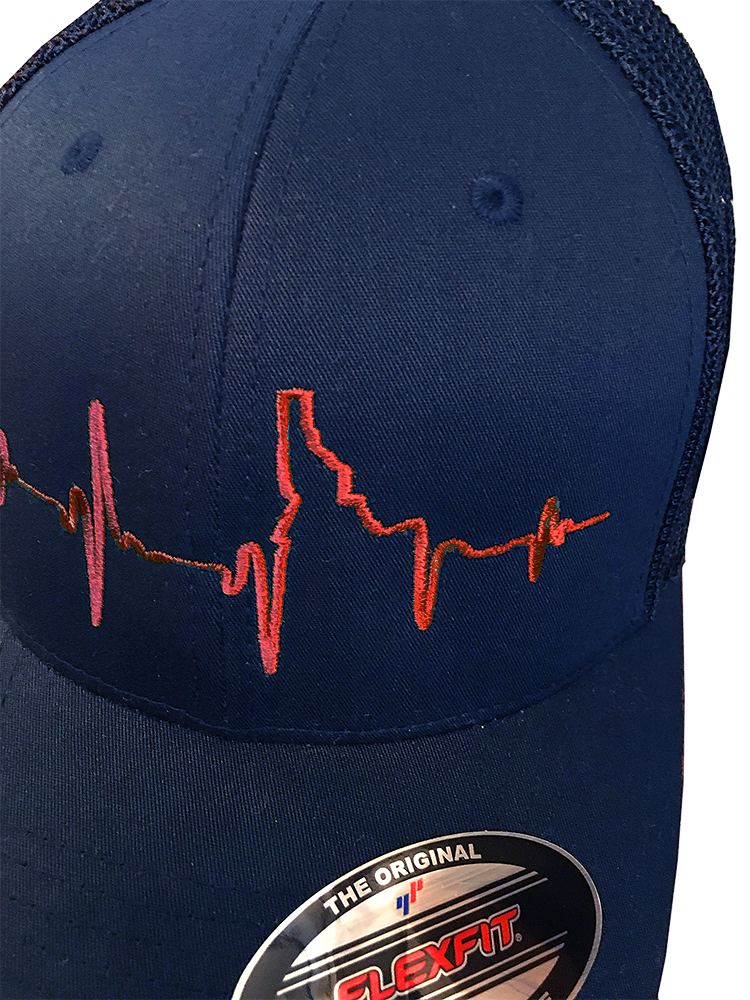 Heartbeat EKG Idaho Flex Fit Mesh-back Hat