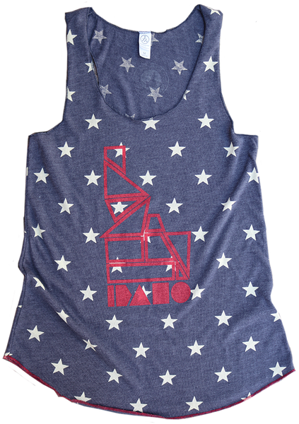 LIMITED EDITION - Geo Idaho Star Ladies Tank