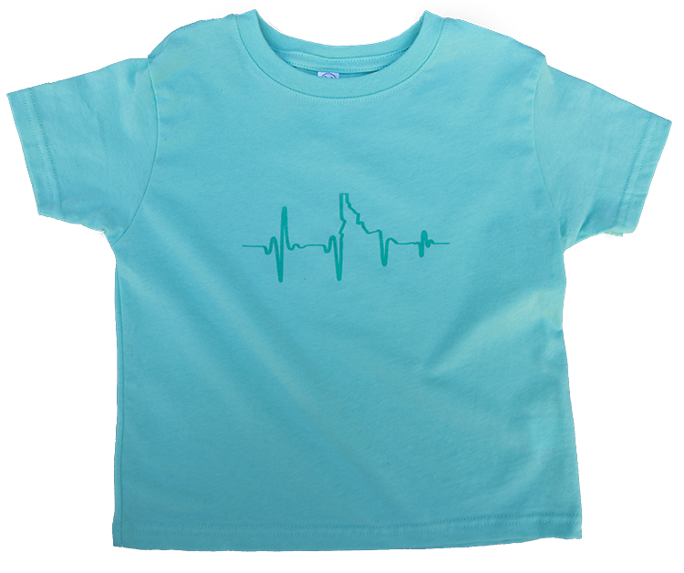 Heartbeat EKG Idaho Toddler Tee