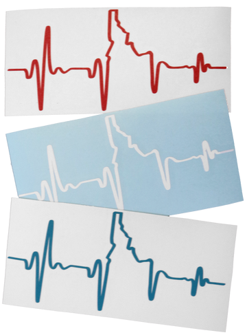 Heartbeat EKG Idaho Sticker - 6