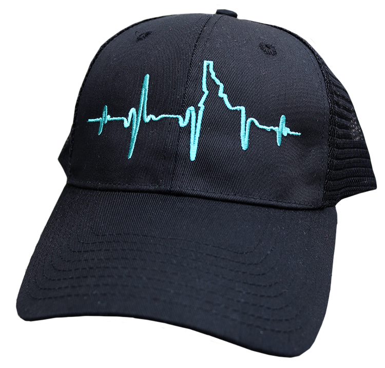 Heartbeat EKG Idaho Ball Cap
