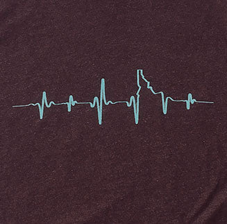 Heartbeat EKG Idaho Mens Tee