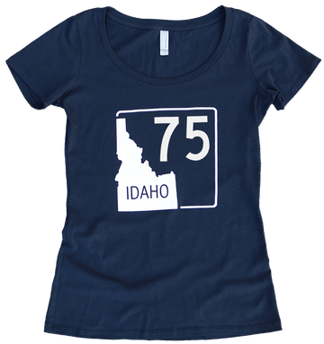 Idaho Highway 75 Ladies Tee