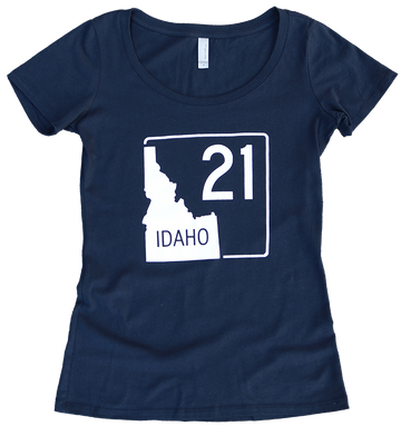 Idaho Highway 21 Ladies Tee