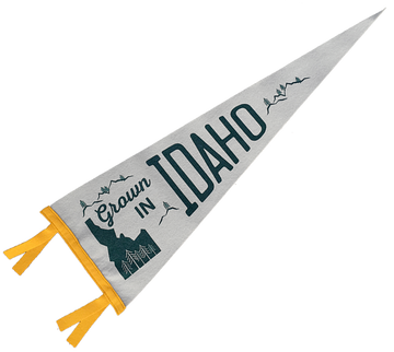 Grown in Idaho Felt Pennant
