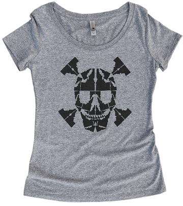 Idaho Skull Ladies Tee