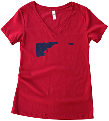 LAST CHANCE Idaho Tree-Gun Ladies Tee