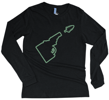 Idaho Tree-Gun Outline Mens Long Sleeve Tee