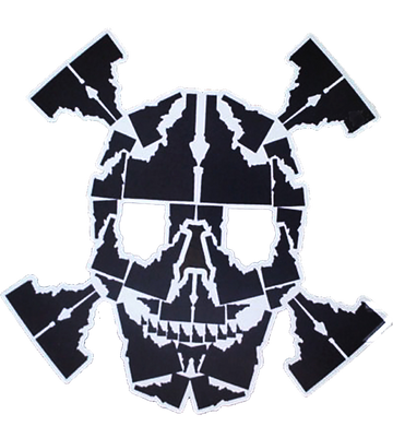 Idaho Skull Sticker