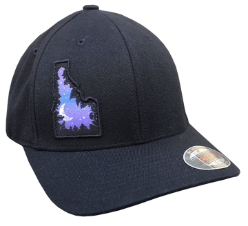Skydaho Patch Curve Bill Fitted Hat