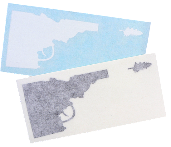 "Idaho Tree-Gun Sticker - 3.5"" wide"