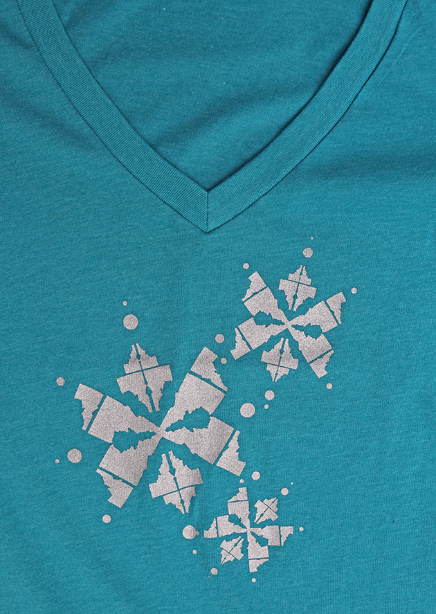 Idaho Snowflake Ladies Tee
