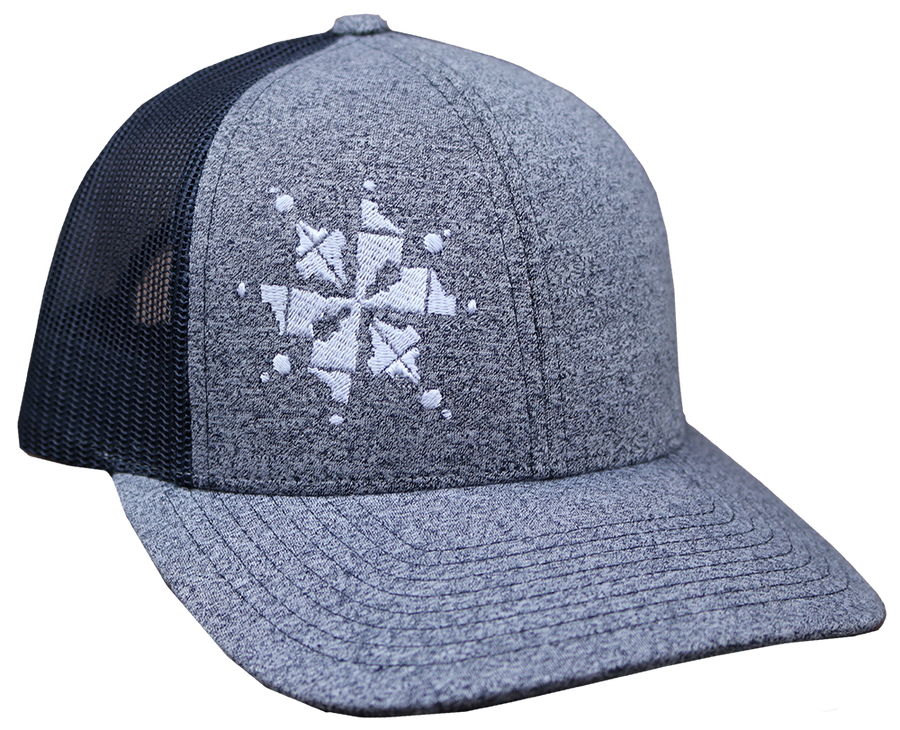 Idaho Snowflake Adjustable Mesh Back Hat