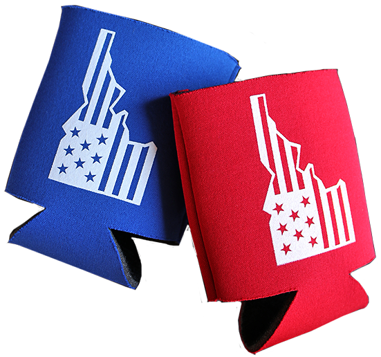 Star Spangled Idaho Insulated Can Holder