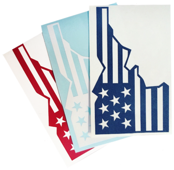 Star Spangled Idaho Sticker