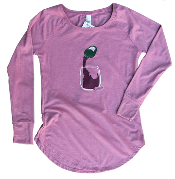 Idaho Vino Ladies Long Sleeve Tunic Tee
