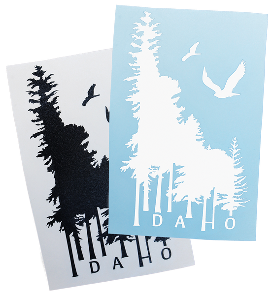 "Idaho Wilderness Sticker - 6.5"" tall"