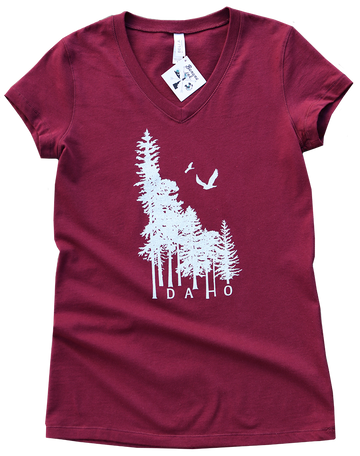 Idaho Wilderness Ladies V-Neck