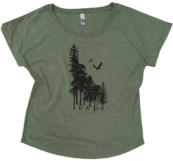 BRAND NEW! Idaho Wilderness Ladies Scoop Tee