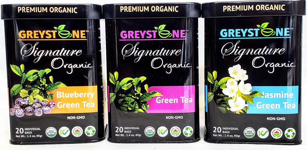 Green Tea Gift Set - Signature Tins by Greystone Tea