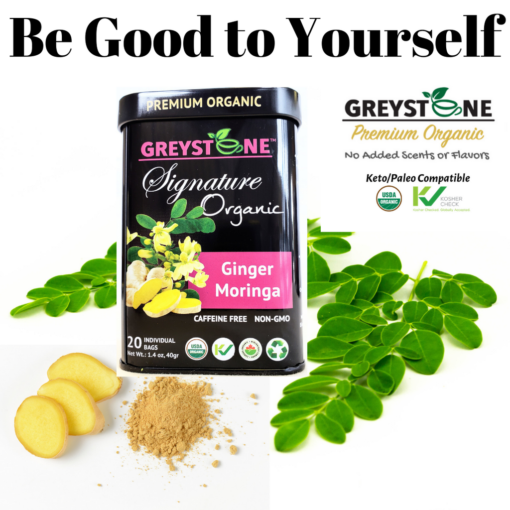 Ginger Moringa Signature Tin Be good to Yourself Greystone Tea