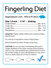 10 Pound Fingerling Diet (10lb Bag) | by Tilapia Depot