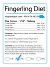 3 Pound Fingerling Diet (3lb Bag) | by Tilapia Depot