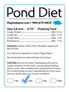 3 LBS. Pond Diet - (3lb Bag) Aquaponic Diet by Tilapia Depot