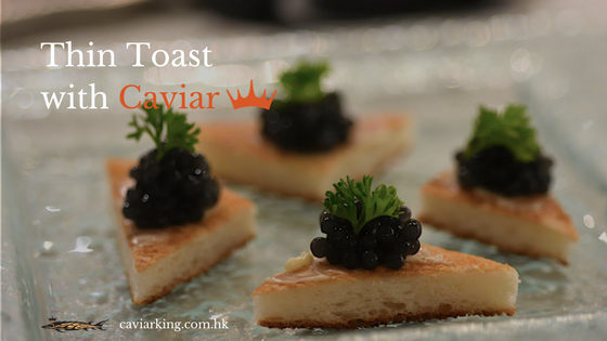Thin Toast with Caviar