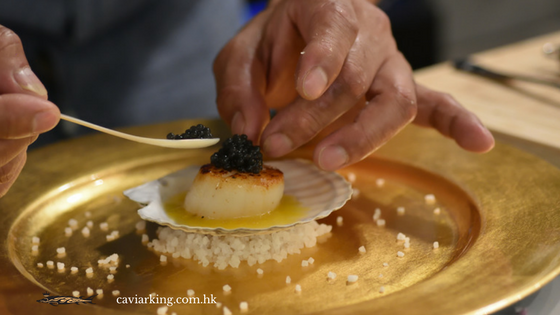 Seared Scallops with Caviar | Recipe by Caviar King
