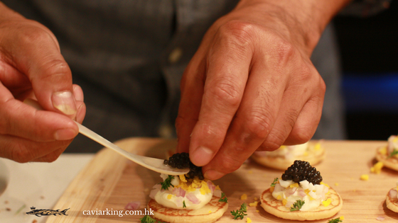 Topped Blinis with Caviar | Recipe by Caviar King