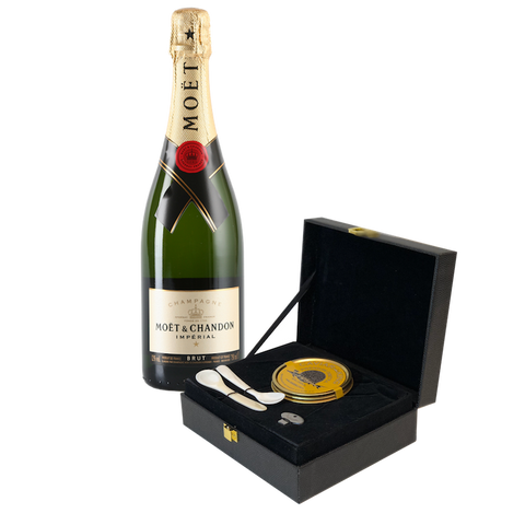 Premium Osetra Caviar with Champagne Gift Set