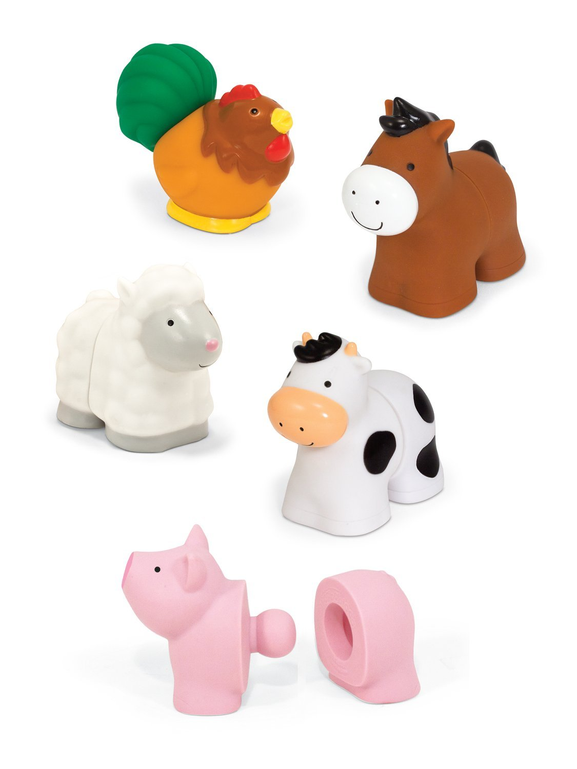 Melissa Amp Doug Pop Blocs Farm Animals Educational Baby Toy
