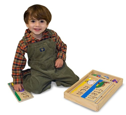 Melissa /& Doug See And Spell Wooden Educational Toy With 8 Double-Sided Boards