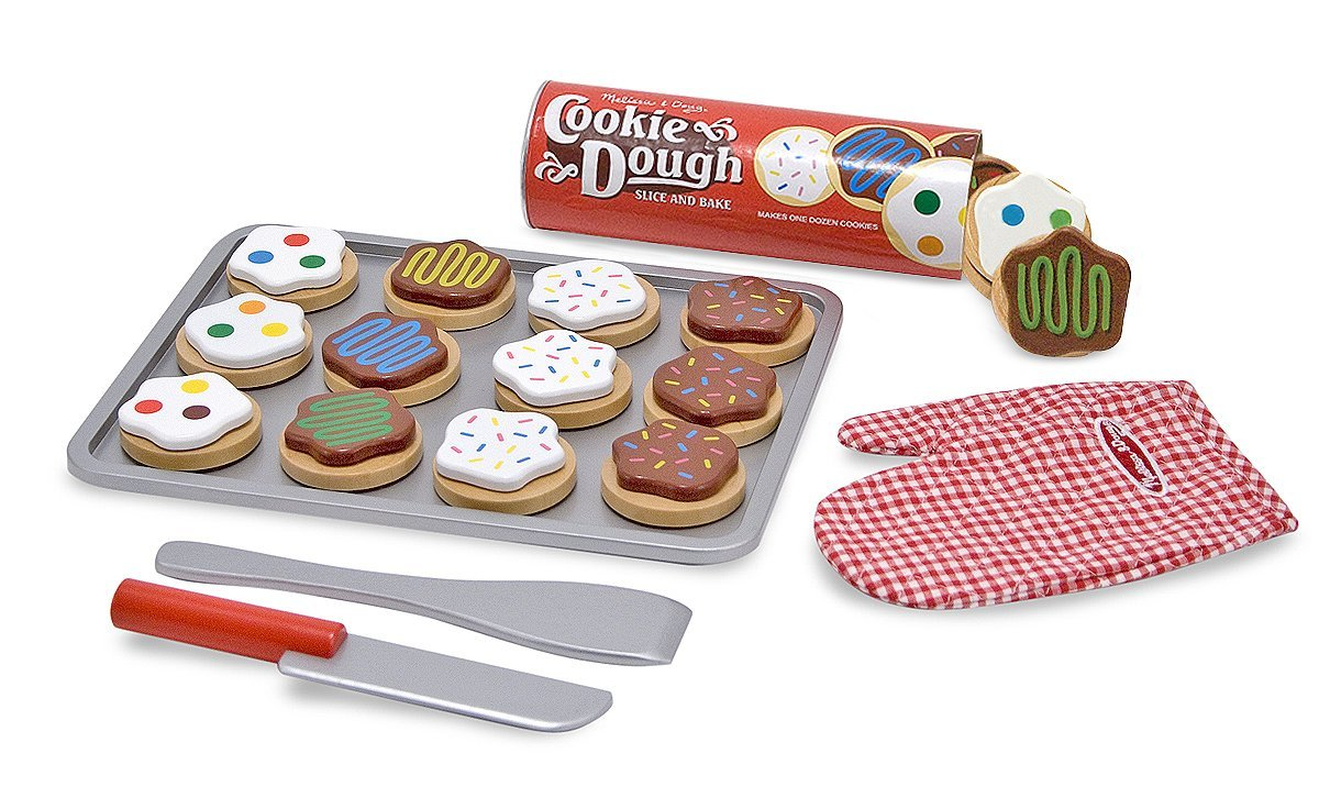 Melissa Doug Slice And Bake Wooden Cookie Play Food Set Toyworldcom