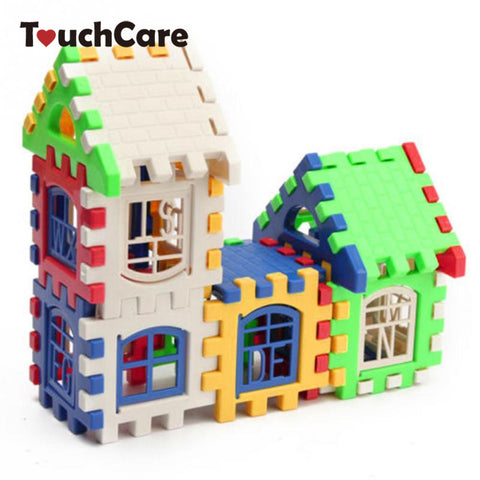 Baby, Kids, Children House Building Blocks, Educational Learning Construction Developmental Toy Set Brain Game