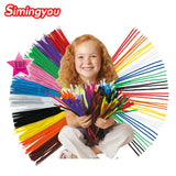 Simingyou 100pcs Montessori Materials, Chenille Children Educational Toy Crafts For Kids, Colorful Pipe Cleaner Toy Craft