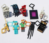 New  Minecraft keychain 10pcs/lot Hangers Series 2 Figure Toys