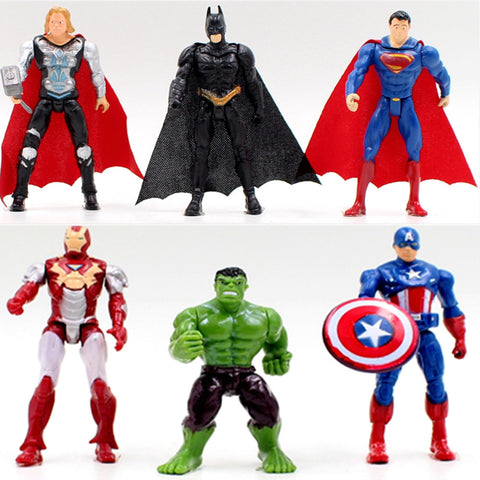 Avengers Iron Man Hulk Captain Action Figures Set