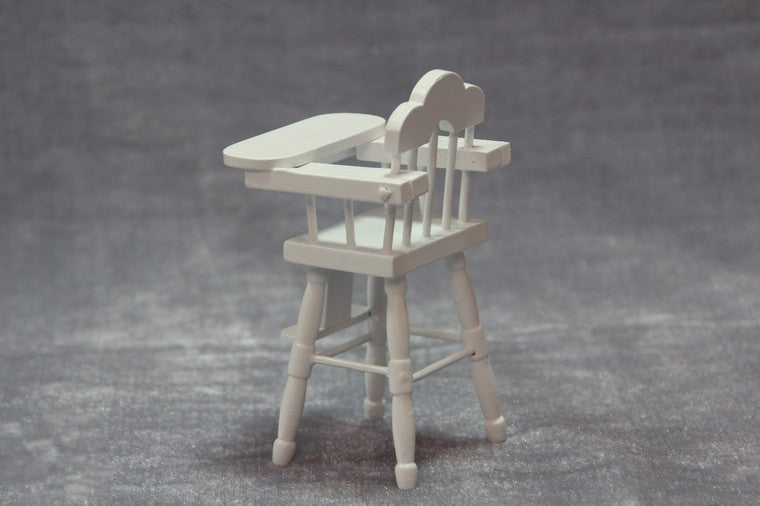 Super White Wooden Miniature Mini Chair Baby High Chair Play Doll House Gmtry Best Dining Table And Chair Ideas Images Gmtryco