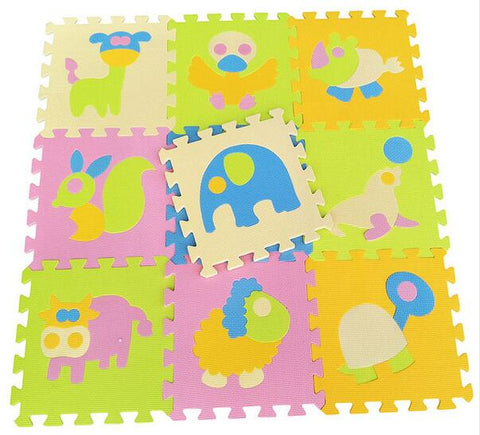 9pcs/set Animal Crawling Play Mat For Children, Baby Climb Puzzle Eva Foam, Carpet Kids Rug Game, Toys Gift Activity Gym Floor