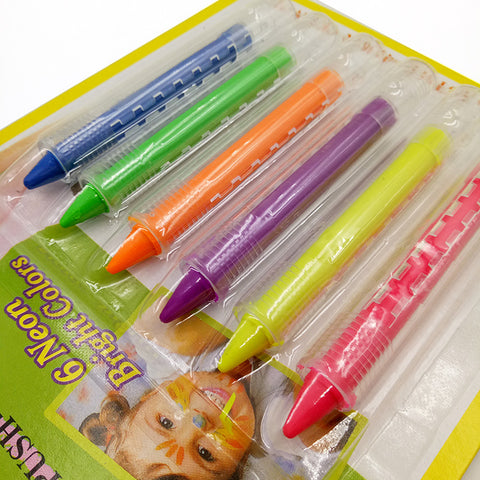 6 Colors Face Painting Pencils and Body Painting Pen Stick For Children