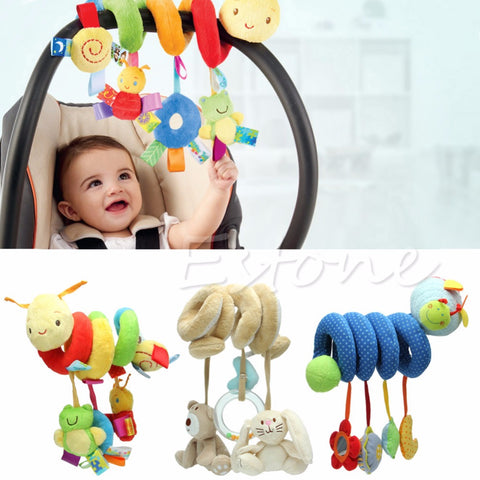 Activity Spiral Stroller or Car Seat toy,  Travel Hanging Toys, Baby Rattles Toy