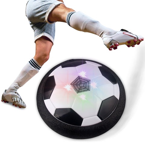 Air Power LED, Light Flashing and Disc Gliding Multi-surface Hovering Football Game