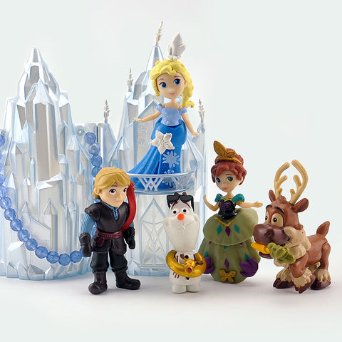 Disney Anime Toys 6Pcs/Set 8-16cm  Princess Castle