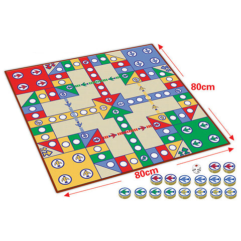 16pcs Chessmen Board Game, Flying Chess Carpet Kids, Classic Flight Game, Toy Classic Puzzle Game Enjoy Family Fun Gift for Kid