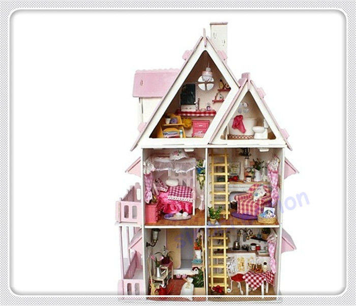 Diy Kit Dollhouse Toy Miniature Scale Model Puzzle Wooden Doll