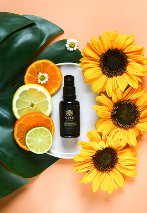 Vitamin C serum for acne and brightening skin YOU skincare