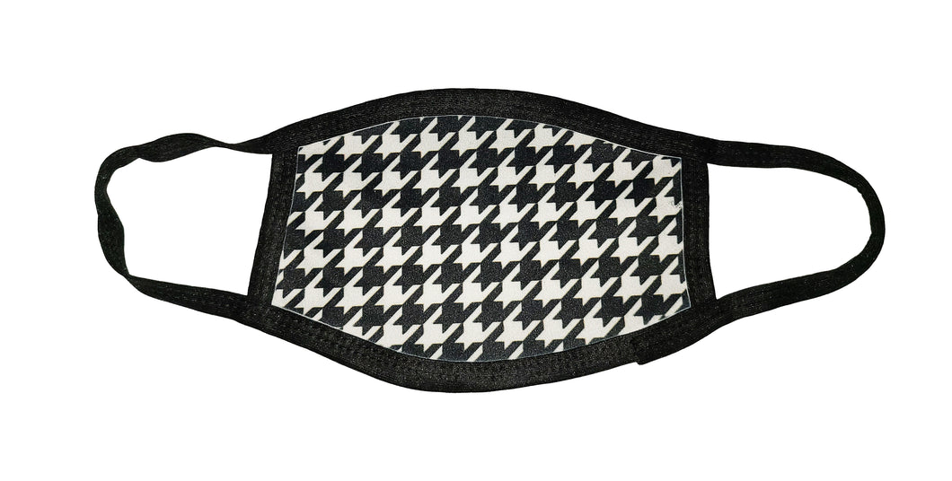 Houndstooth Pattern Face Mask