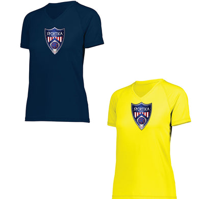 Women's V Neck Dry Fit Futsal Soccer